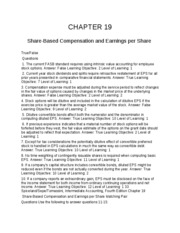 19 Chapter Share based Compensation and Earning