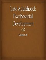 Ch. 15 Late Adulthood Psychosocial Development.ppt