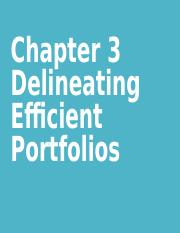 Chapter 3 Delineating Efficient Portfolios.ppt