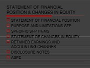 Chapter 4 - Statement of Financial position & changes in equity