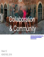 Week 10 – collaboration and community.pdf