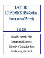 LECTURE 1 (Revised)-Economics of Poverty