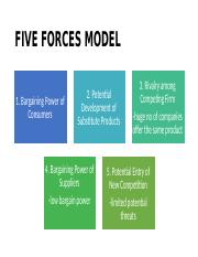 FIVE FORCES MODEL (strategy)