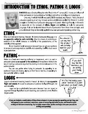 ethos-pathos-logos-definitions-and-worksheet - ethos pathos Ethos is