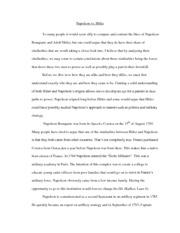 napoleon vs. hitler essay Compare and contrast hitler and napoleon free essays, compare and contrast hitler and napoleon papers most popular compare and contrast hitler and napoleon essays.