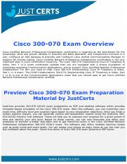 Real Cisco 300-070 Dumps | CCNP Collaboration Exam Questions