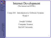 lecture 33 week 9 HTML