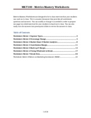 Metrics Mastery Worksheets ANSWERS.doc