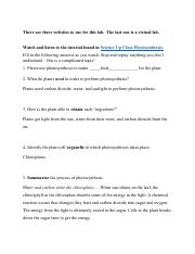 Rate of Photosynthesis Lab Worksheet - Answered.pdf