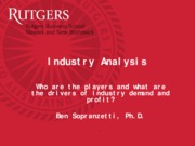 Class 4 Industry Analysis