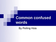 w8 Common confused words - handout