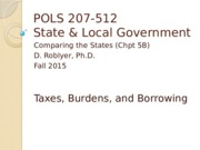 POLS 207 F2015 Chpt 5B (Taxes by type & Borrowing)