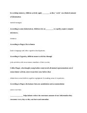 PSYC 212 Chapter 5 Helpful terms for tests and review