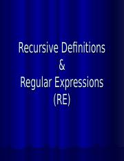 Recursive def and regular expression of TOA.ppt