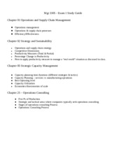 Mgt 3305 Exam I Study Guide - Fall 2014.docx