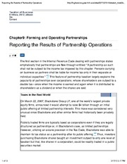 9-5 Reporting the Results of Partnership Operations (1)