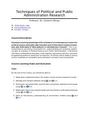 Techniques of Political and Public Administration Research Syllabus.pdf
