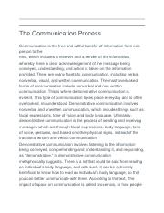 The Communication Process.docx