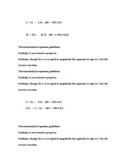 Thermochemical Equations Notes