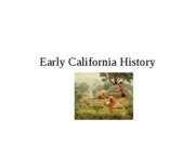 Early CA history