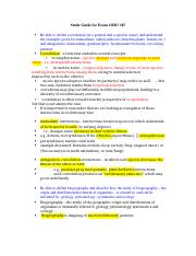 Study Guide for Exam 4 BIO 345 -Dr. W version.docx