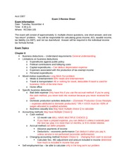 Exam 3 Review Sheet