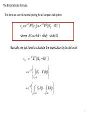 Derivation of BS Formula