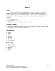 Worksheets Molarity Pogil Answer Key key questions 1 in demonstration why is the solute added to some of the