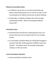 Effective Annual Rate Notes