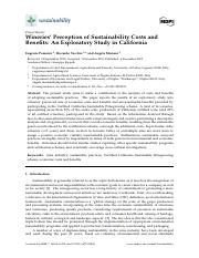Pomarici et al. - Wineries' Perception of Sustainability Costs and Benefits: An Exploratory Study in