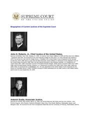 Biographies of Current Justices of the Supreme Court