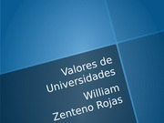 Valores Universidades