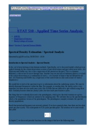 node29 Spectral Density Estimation   Spectral Analysis   STAT 510 - Applied Time Series Analysis