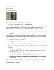 The Shroud of Turin Study Guide