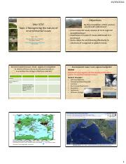Topic 2 Recognising the nature of environmental issues 5Mar2012