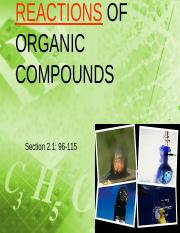 5A) Organic Reactions 2014