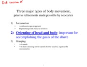 major types of body movement notes