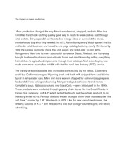 The impact of mass production