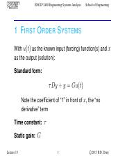 Lecture 13 - Oct.22.2013 - First Order Systems