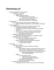 Final Review Note-Elementary AI