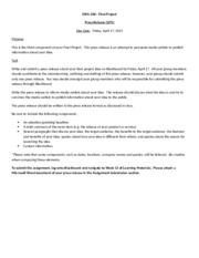 ESOL 200 Final Project - Press Release