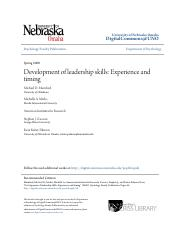 Development of leadership skills- Experience and timing.pdf