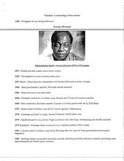 TIMELINE OF AFRICAN EVENTS