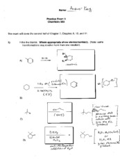 CHEM 333 Practice Exam 3 with key