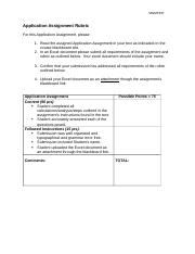 Application Assignment Rubric - MIS(1)(1).doc