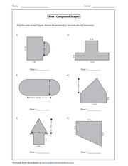 printable math worksheets area compound shapes area of composite figures worksheet 4th grade. Black Bedroom Furniture Sets. Home Design Ideas