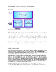Business Strategy - Lecture 1- Worksheet