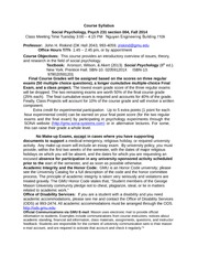 Social Psychology (Psychology 231) Fall 2014 Syllabus