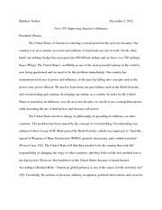 Improving American Influence Essay