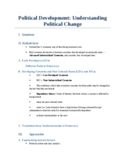 Political Development Overview
